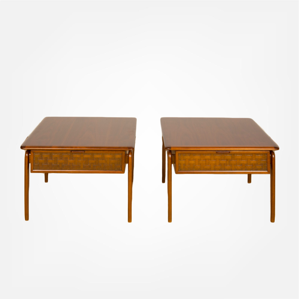 Pair of modern side tables by Lane, Acclaim Series.