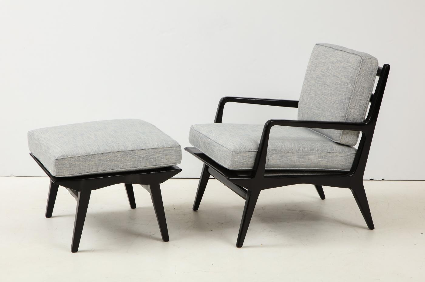 Lounge chair and ottoman. Carlo di Carli for M. Singer & Sons