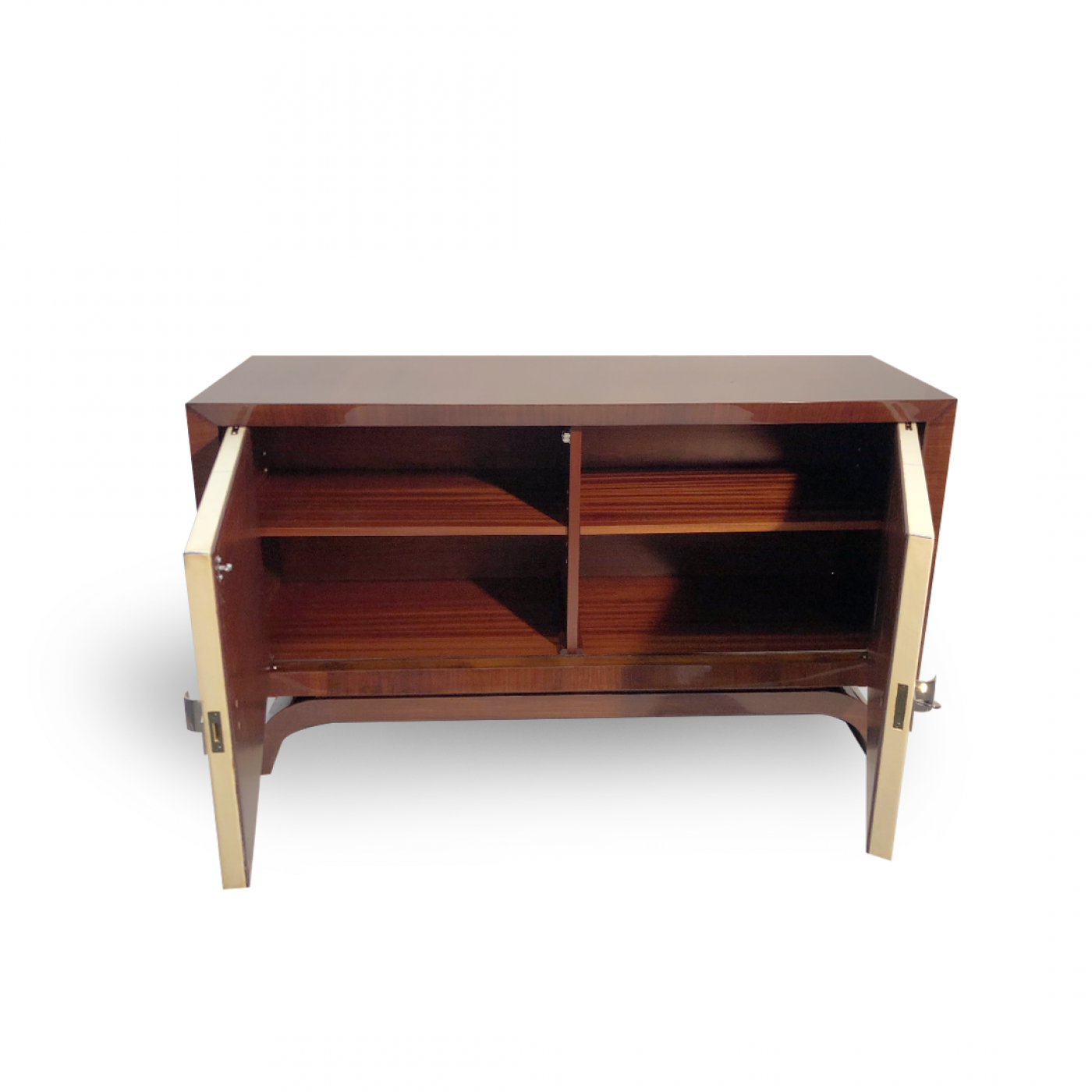 Fine Art Deco Cabinet. Palisander Veneer and Parchment.