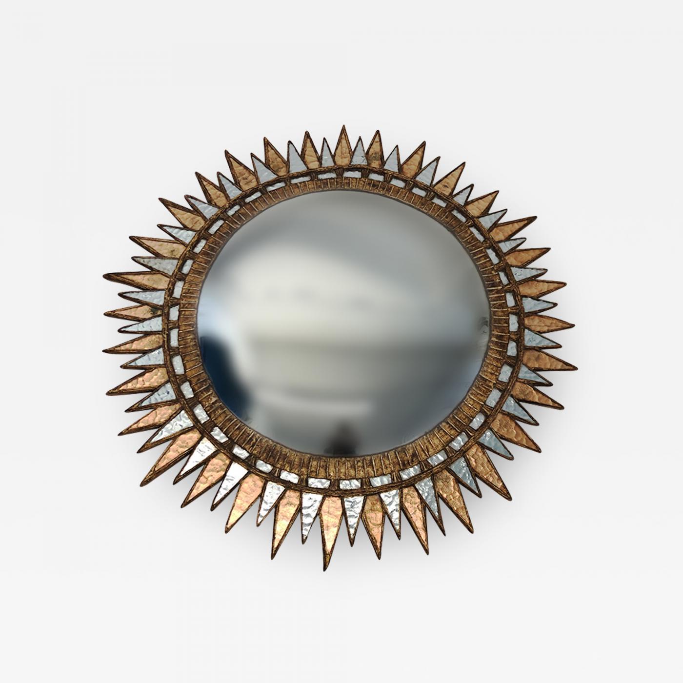 A Starburst form convex mirror in the manner of Line Vautrin
