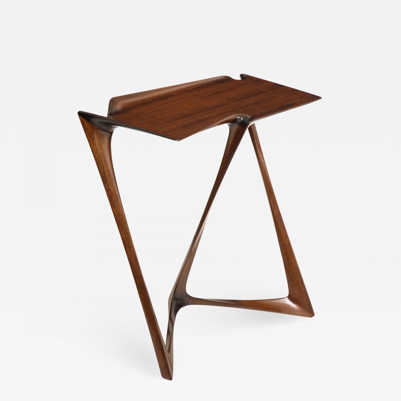 Uniquely designed side table. Designed by Newman-Krasnogorov for Olicore Studio