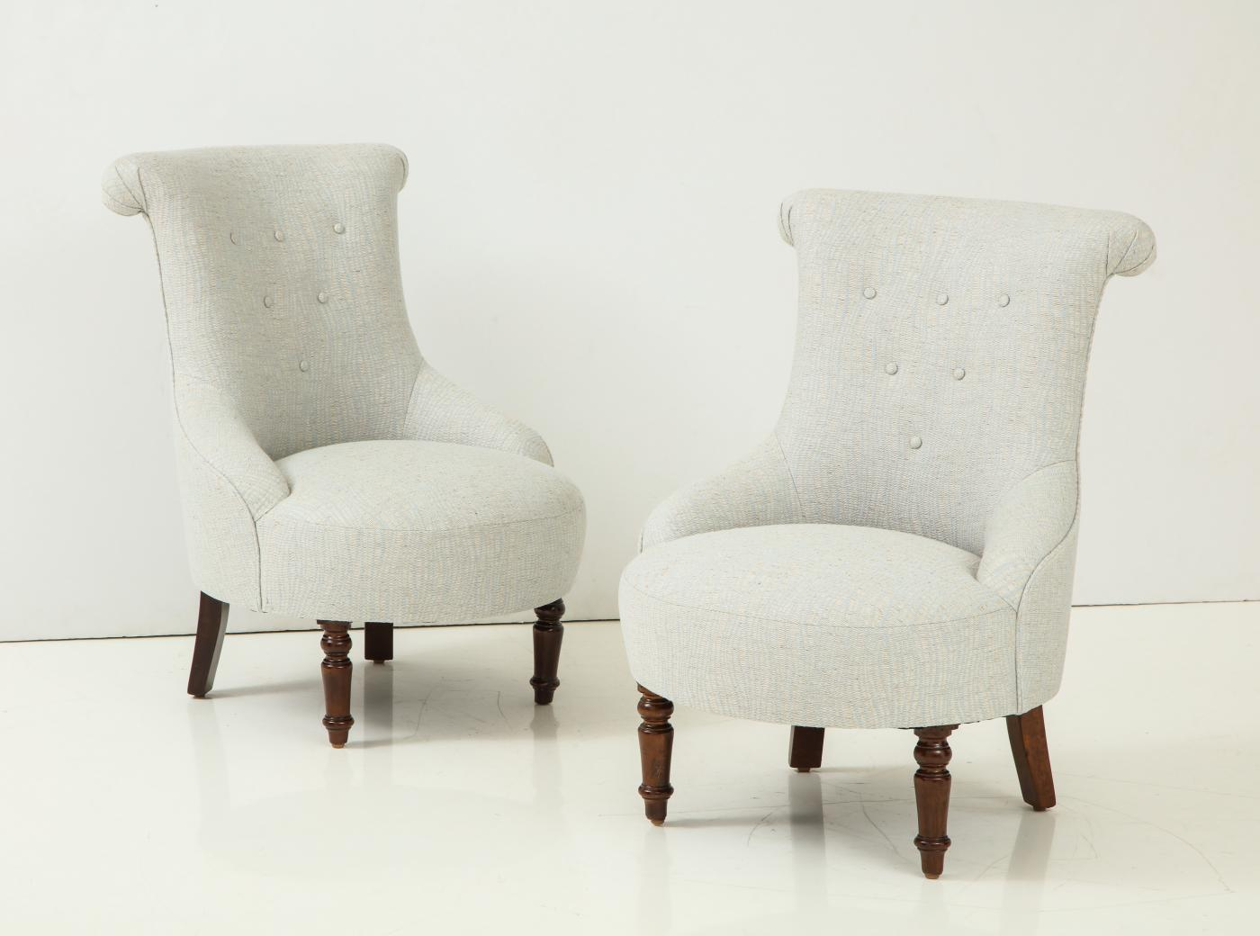 Pair of French 40's Salon side chairs.