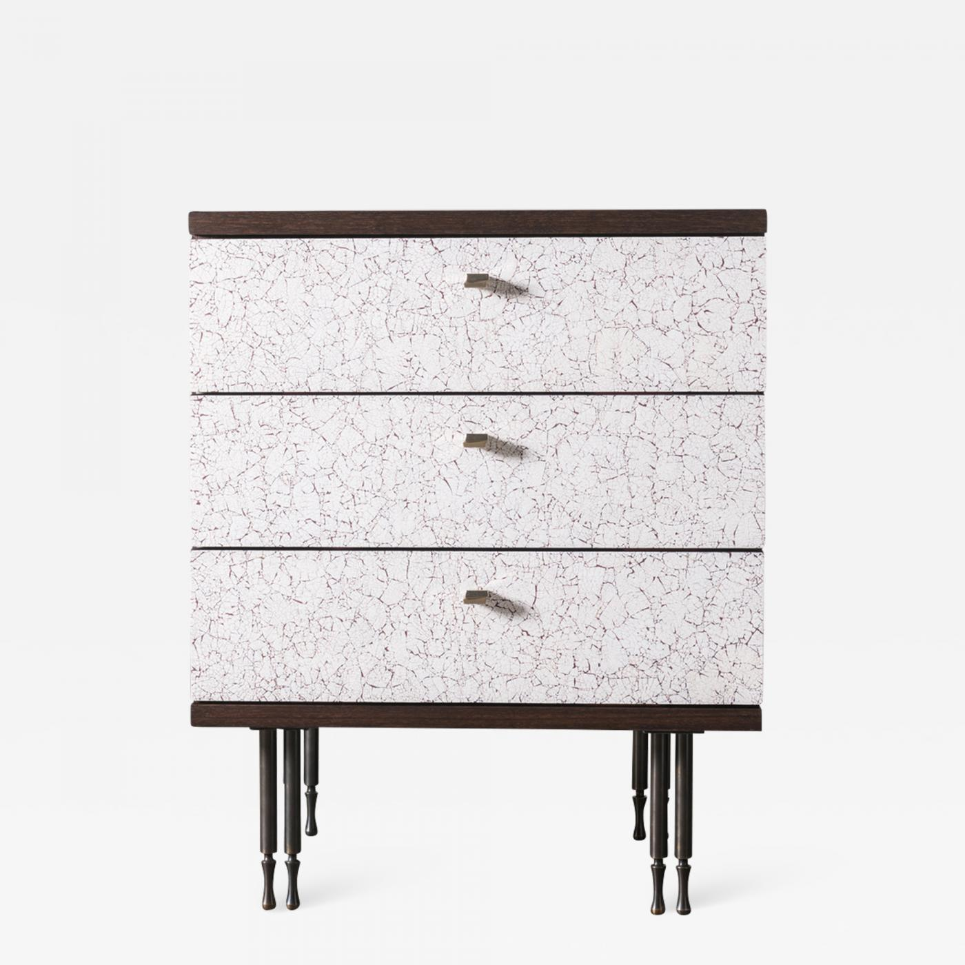 Pair of Wheeler Nightstands, Designed & Made by Andy Messenger