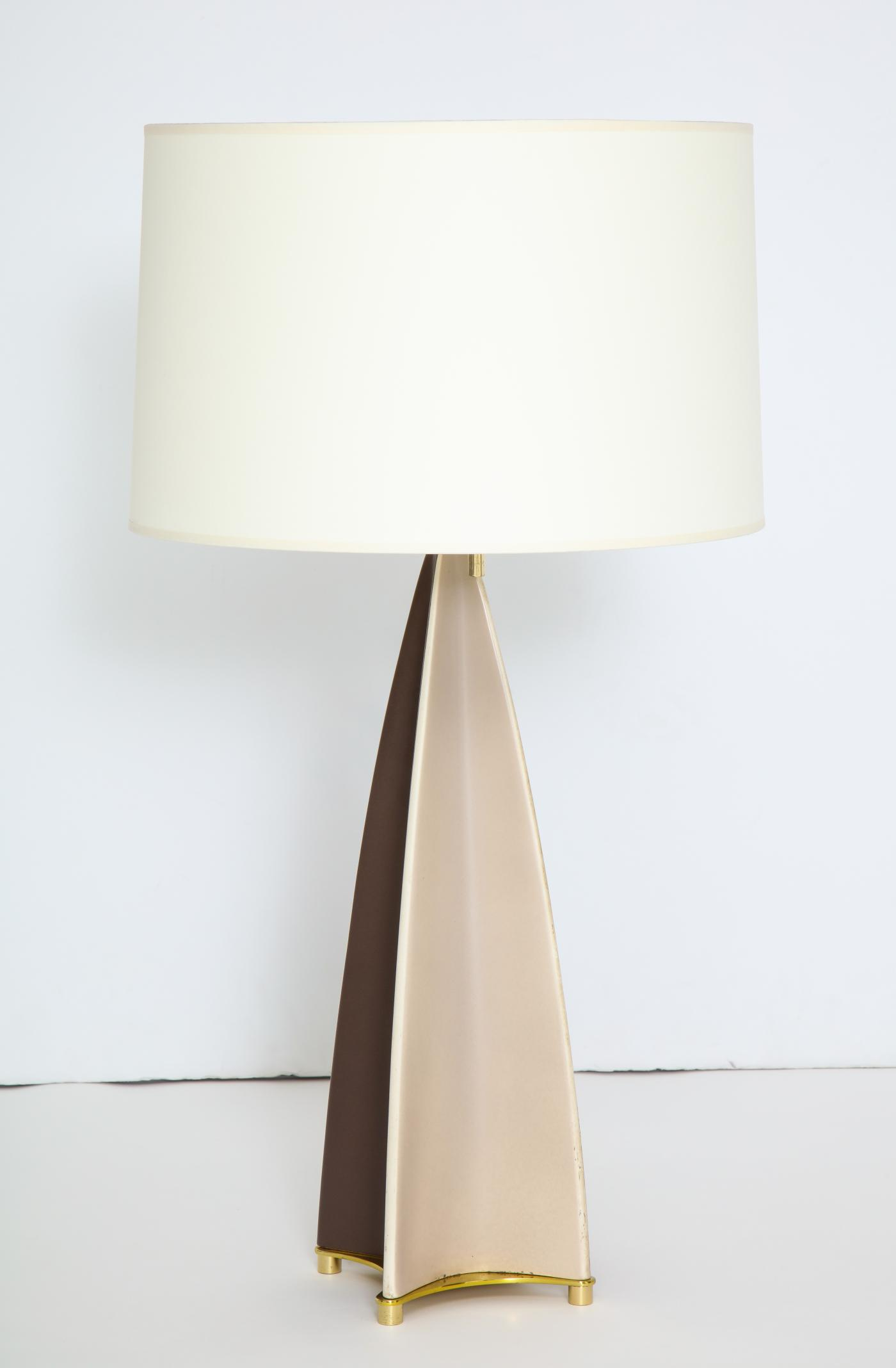 Parabolic Fin Table lamp by Gerald Thurston for Lightolier.