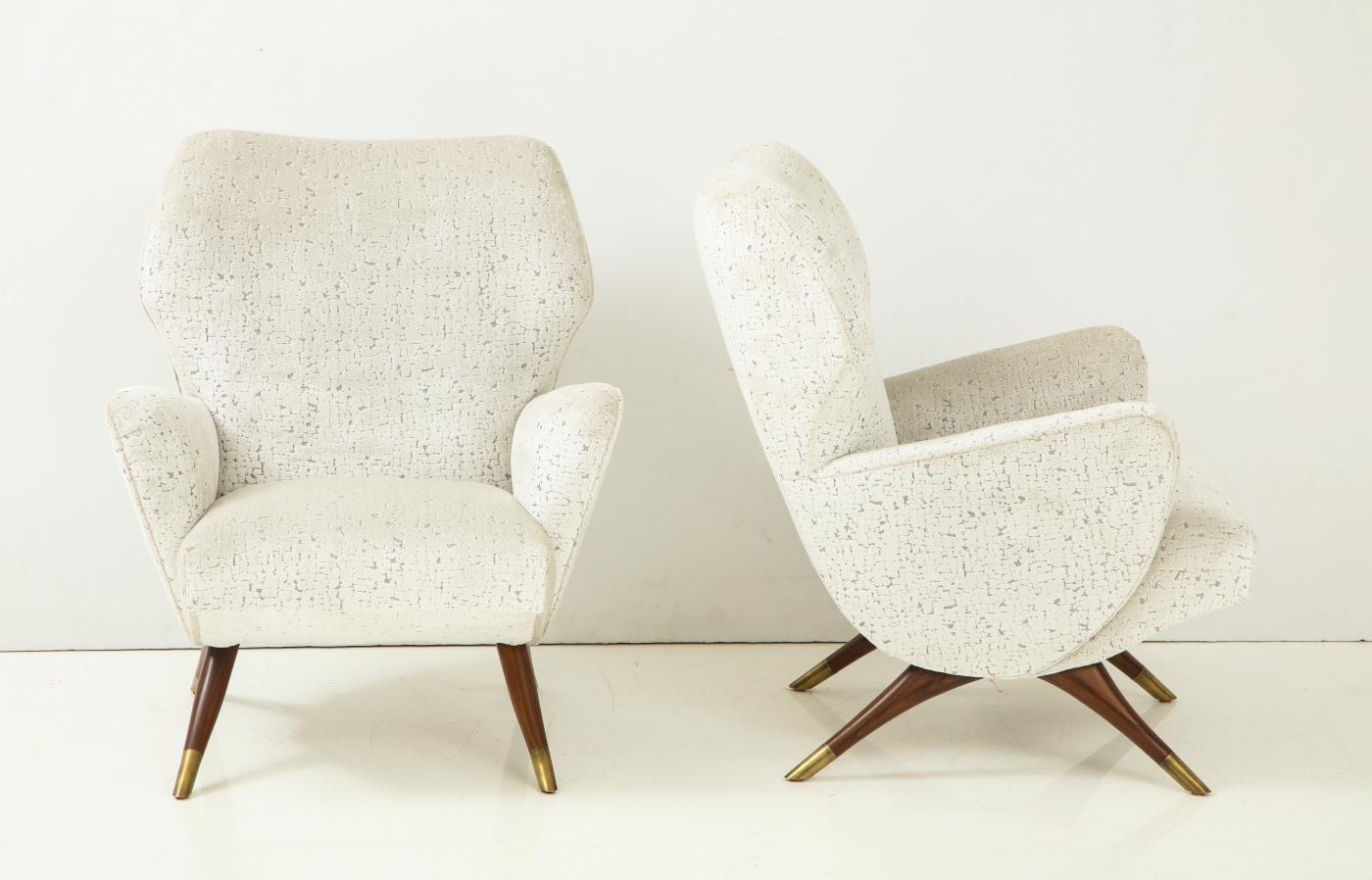 A Pair of Mid Century Style Armchairs.