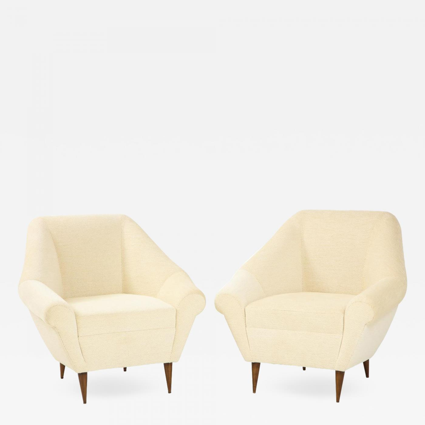 Pair of Italian Mid Century Modern Club Chairs