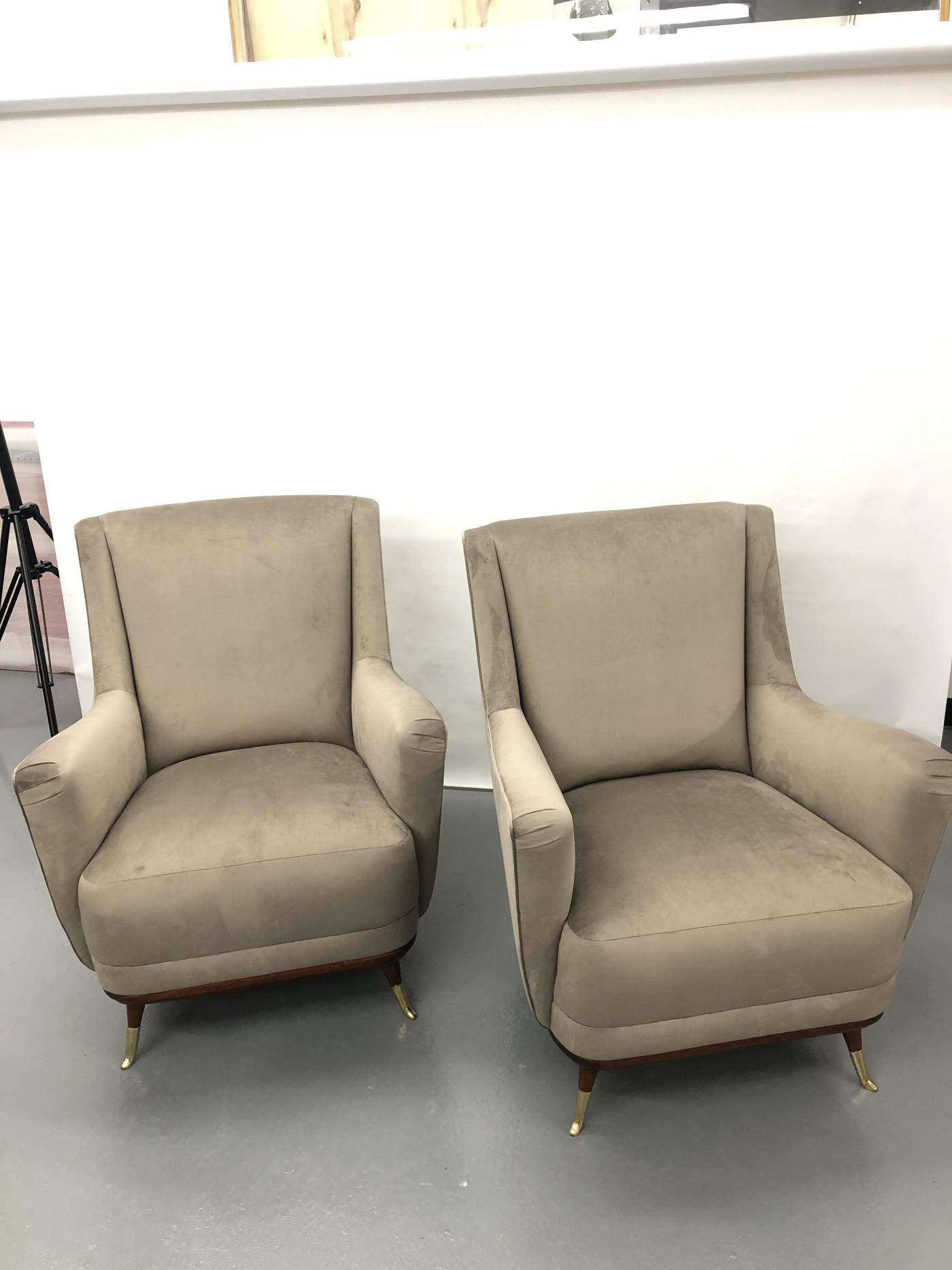 Pair of Mid Century Club Chairs.