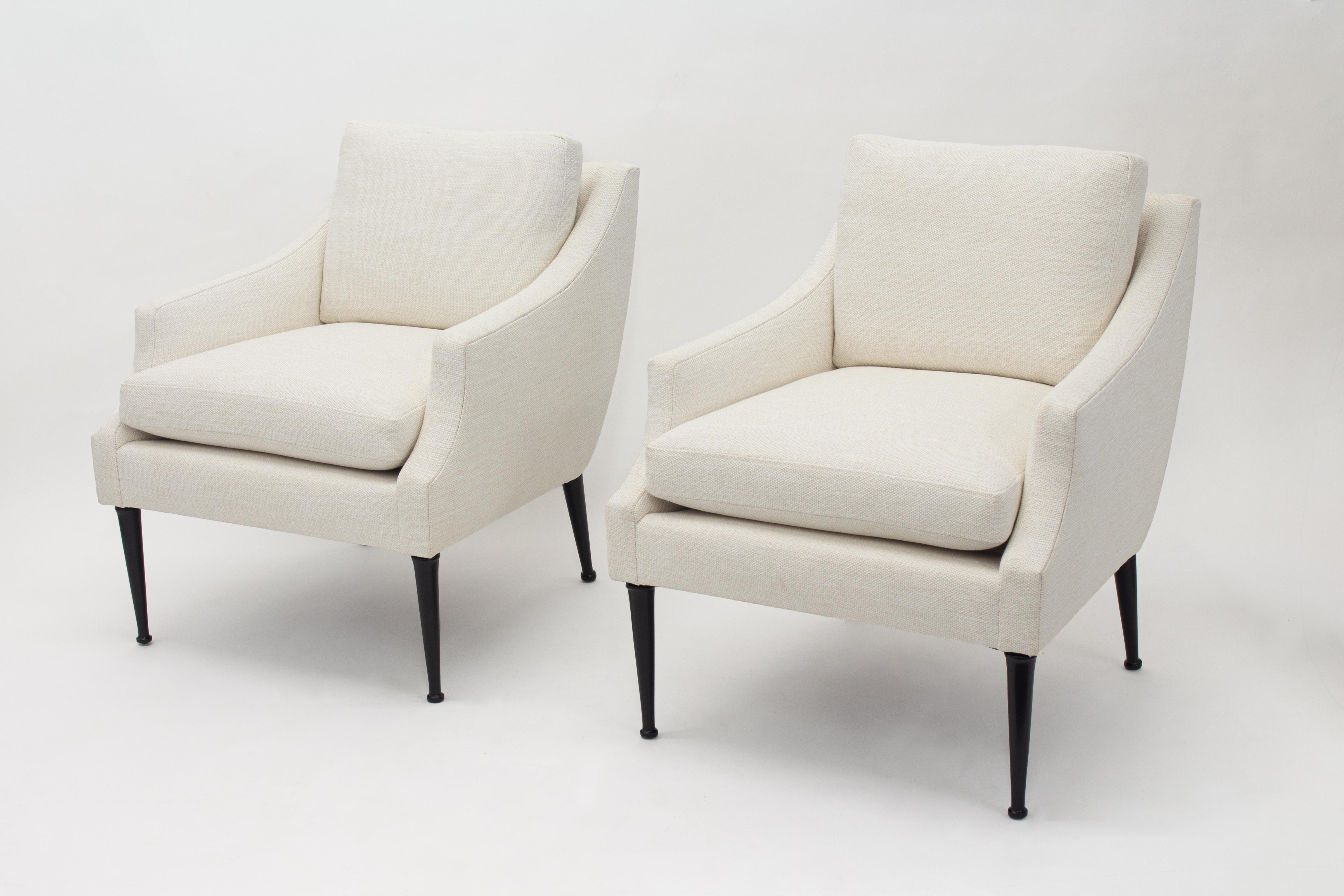 Pair Mid Century Modern Arm Chairs by Karpen