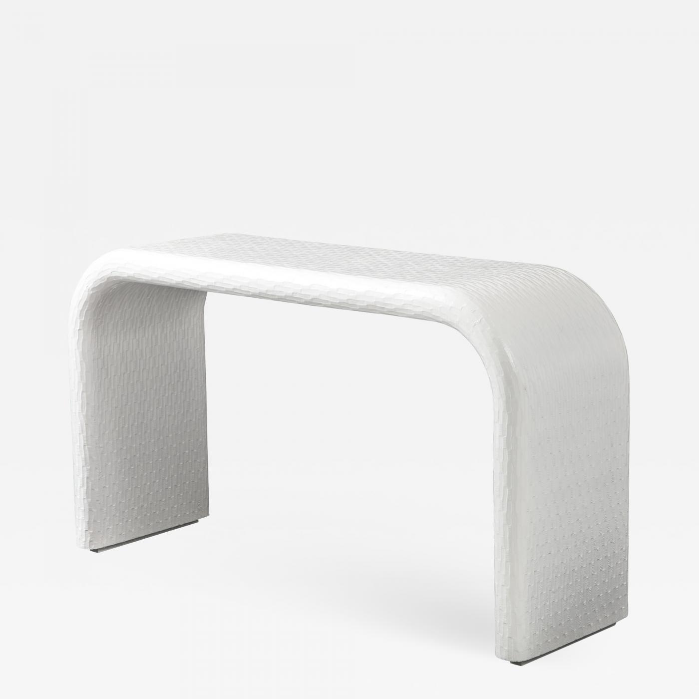 Mid Century Modern Console Table. Waterfall line.