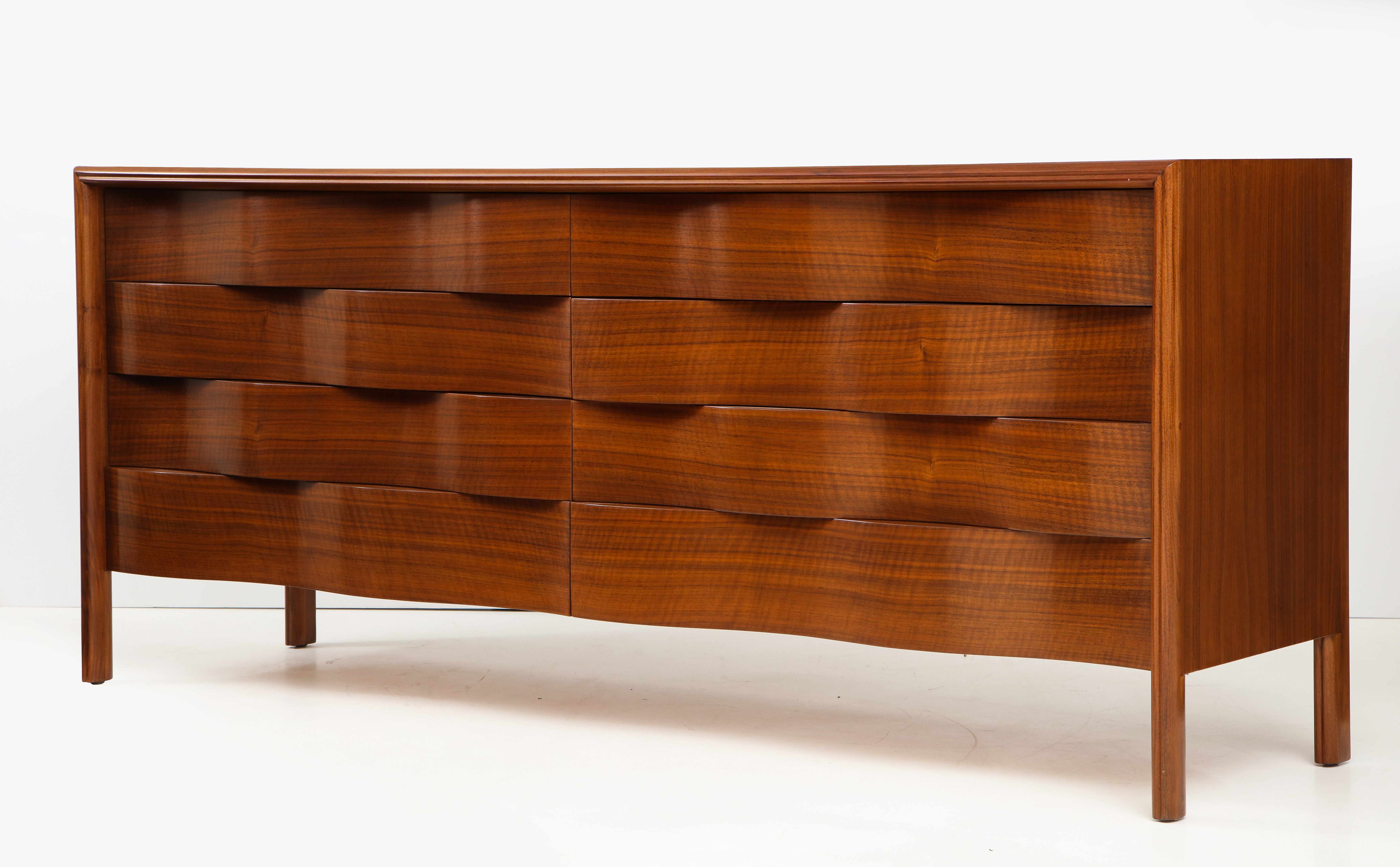 A long chest with eight drawers, Edmond Spence, Sweden, 1950.