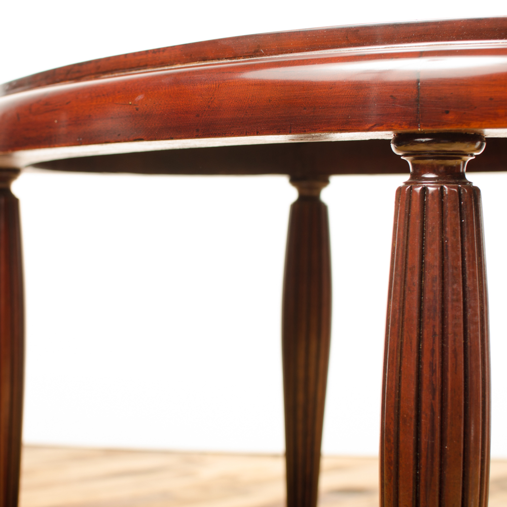 Art deco contemporary table with fluted legs