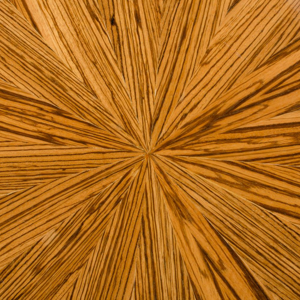 Round zebra wood table