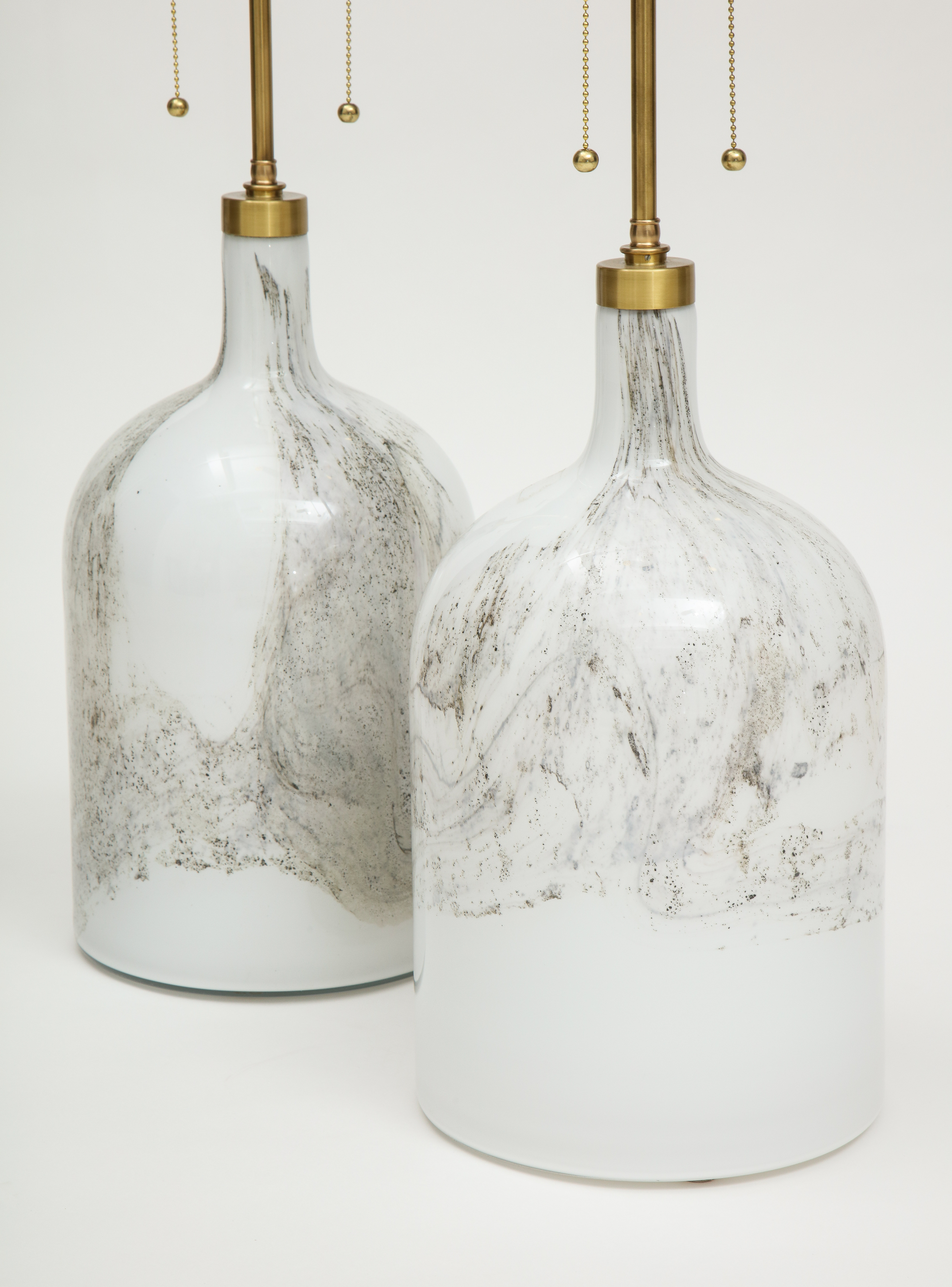 Pair of Holmegaard lamps, Designed by Michael Bang