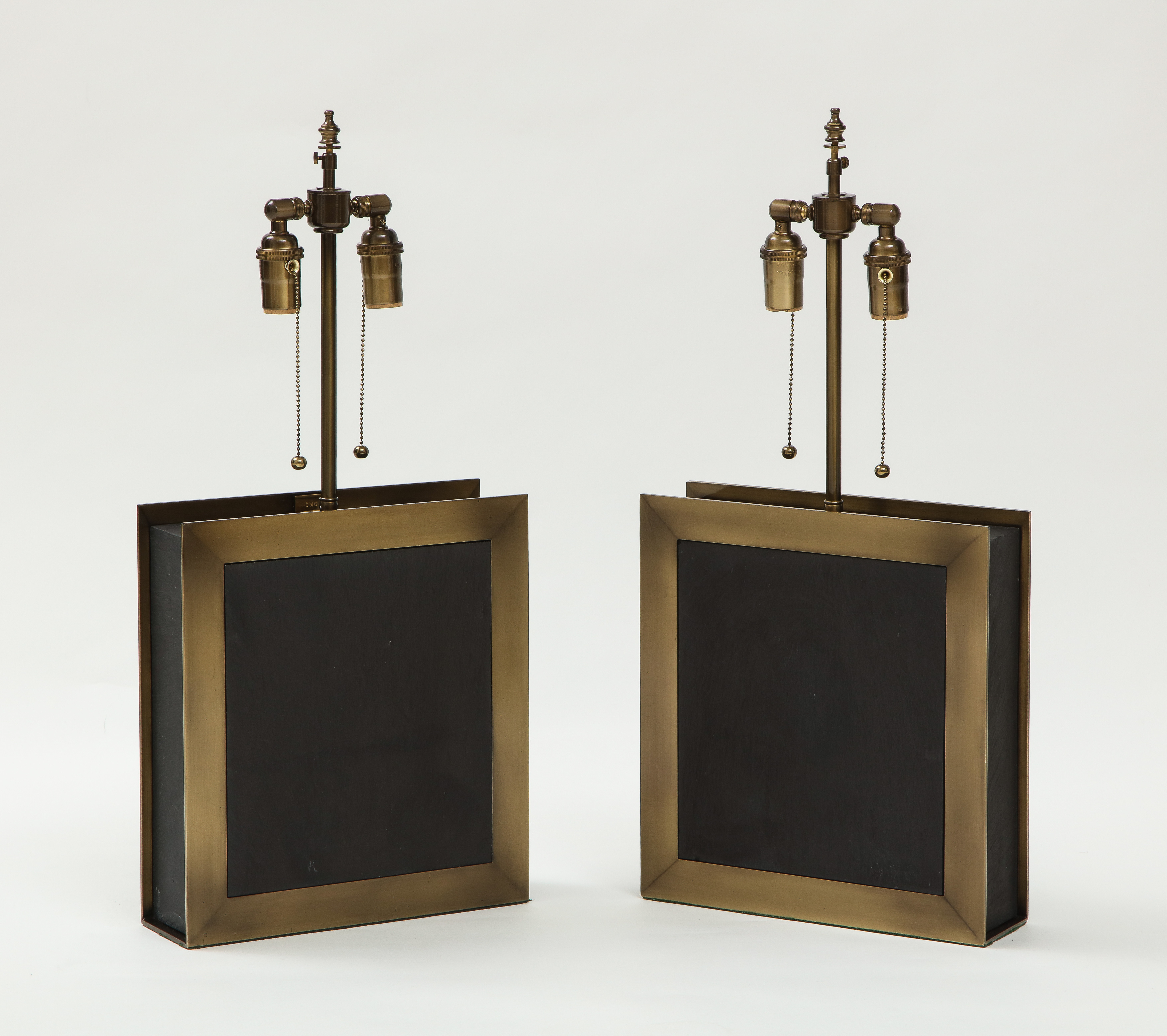 Pair of square shaped lamps