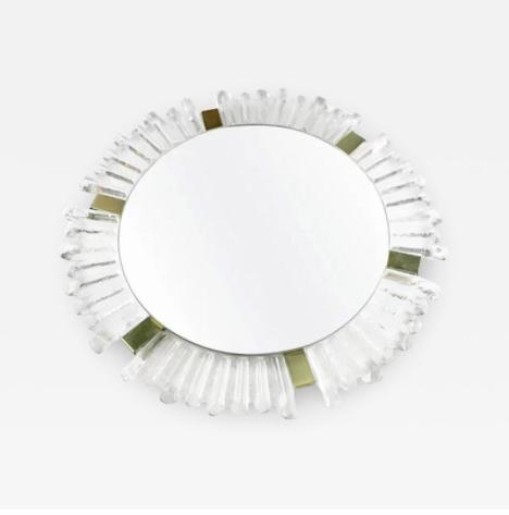 Mid Century Modern Sunburst Crystal Mirror by Kalmar. Austria, 1960's
