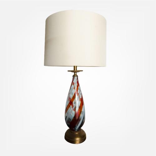 Mid-century modern glass lamp