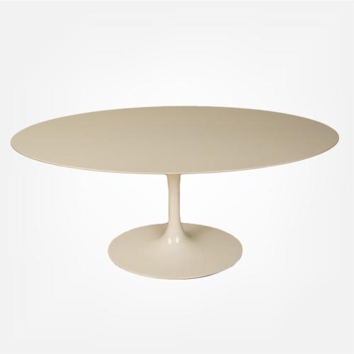 Eero Saarinen oval tulip base dining table