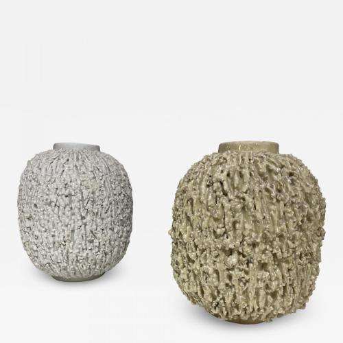 Pair of Stoneware Vases Designed by Gunnar Nylund