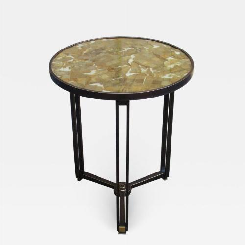 A fine limited edition Modernist bronze guéridon