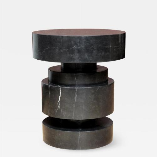 Mogador side table in black marble. Designed and executed by James Devlin