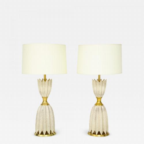 Pair of Ceramic Lamps by Gerald Thurston for Lightolier.