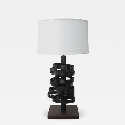A sculptural table lamp
