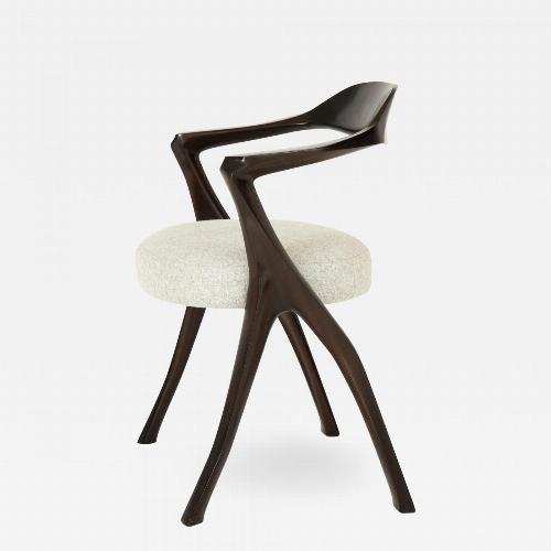 Sculptural Modernist Armchair by Newman-Krasnogorov