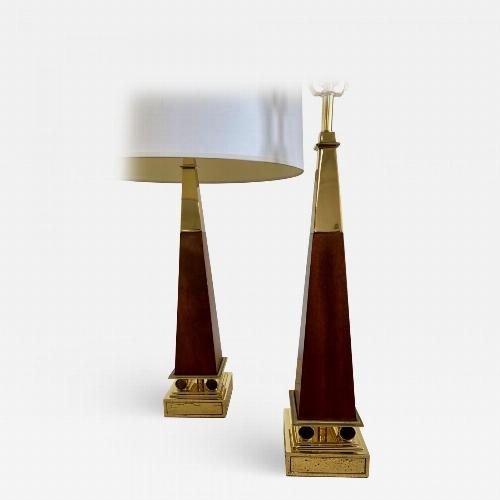 Pair of Obelisk Lamps.