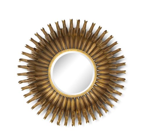 A Modernist round mirror
