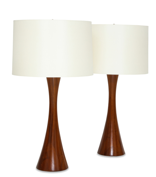 Pair of mid century table lamps by Mel Smilow