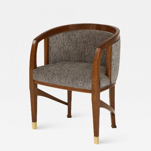 Vienna Secession Side Chair. Solid wood with brass Sabots. Vienna, 1915.