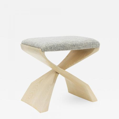 A Modernist Bench. Contemporary Design by Newman-Krasnogorov. Executed in white Ash.