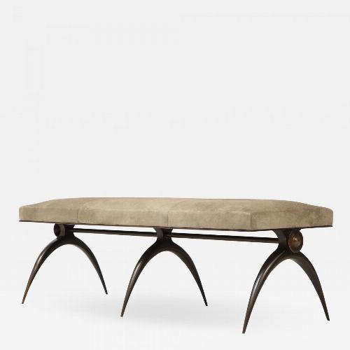 A Contemporary Banquette, designed by Marie Guerin. Solid Bronze