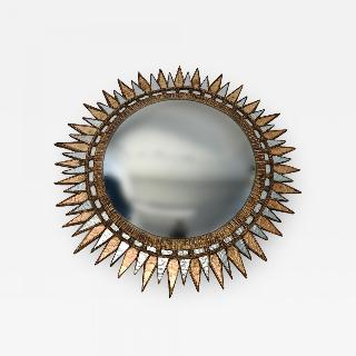 A Starburst form convex mirror in the manner of Line Vautrin