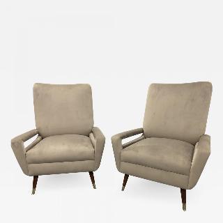 Pair of Mid Century Italian Club Chairs