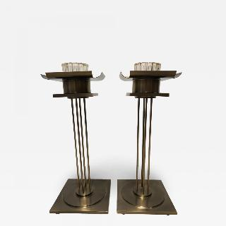 Pair of Mid Century Modern Candle Holders.