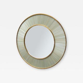 Modernist round mirror of Contemporary design.