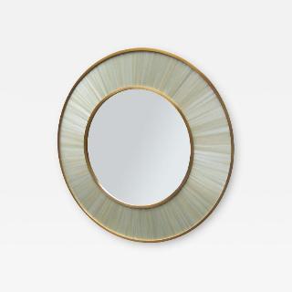 Modernist round mirror of Contemporary design.